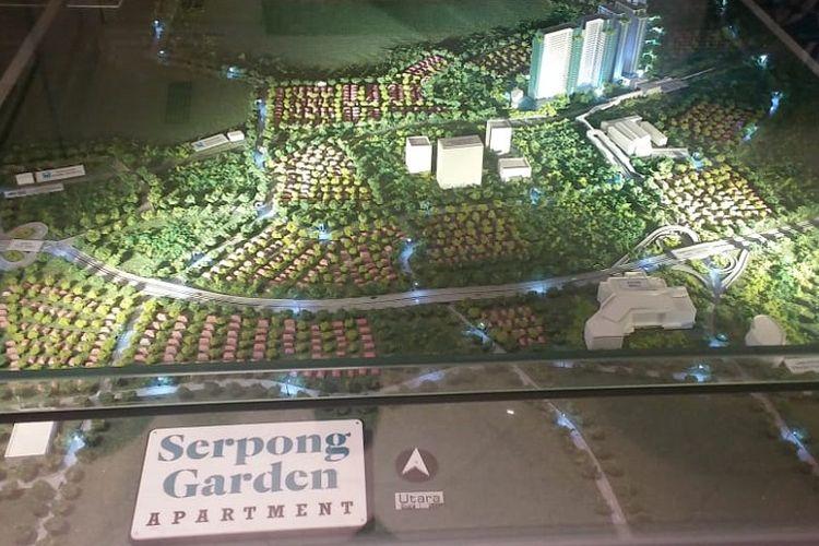 Maket rencana pembangunan Apartemen Serpong Garden.