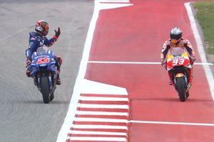 Sempat Ada Insiden Vs Vinales, Marquez Raih Pole Position GP Amerika