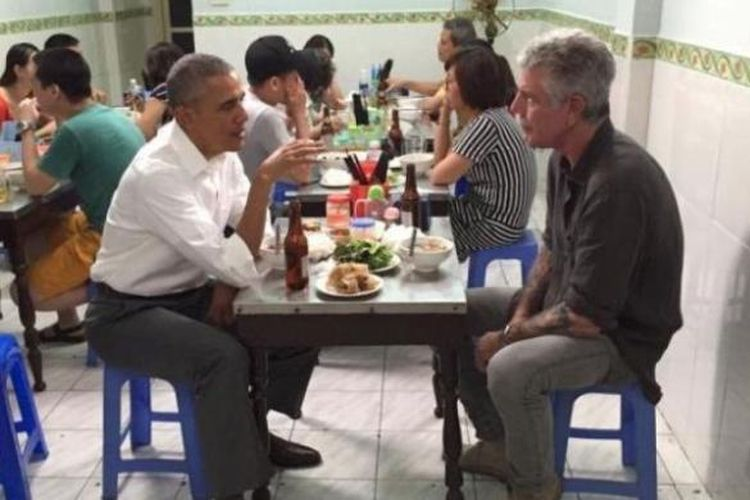Meja Tempat Obama Makan di Restoran Vietnam Kini Dipamerkan