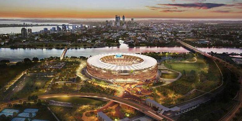 Perth Stadium siap direncanakan selesai pembangunannya pada 2017 dan siap digunakan mulai awal 2018.
