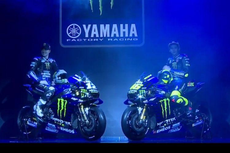 Yamaha memperkenalkan tampilan motor terbarunya untuk musim kompetisi 2019