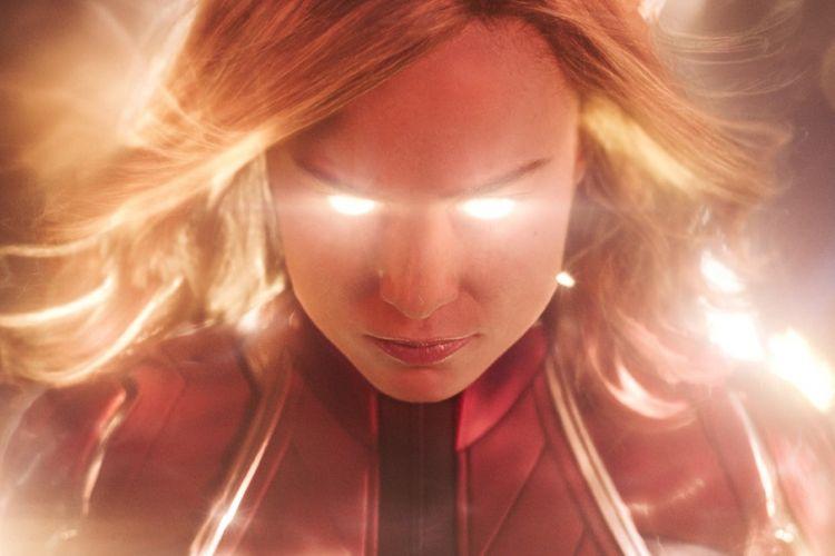 Karakter Captain Marvel yang diperankan oleh aktris Brie Larson.