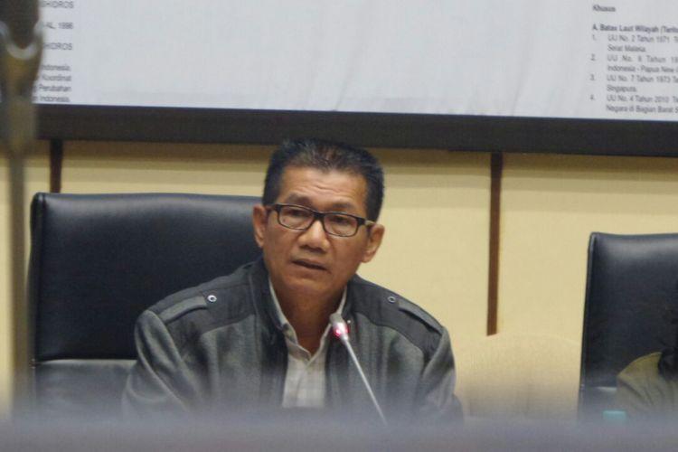 Ketua Pansus Hak Angket KPK Agun Gunandjar Sudarsa di Kompleks Parlemen, Senayan, Jakarta, Jumat (7/7/2017).