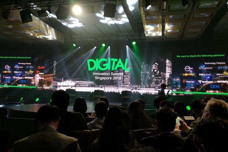 Suasana Innovation Summit Asia 2018 Schneider Electric, di Singapura, Kamis (20/9/2018).