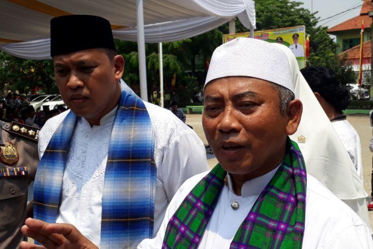 Wali Kota Bekasi Rahmat Effendi kepada awal media di Lapangan Kecamatan Jatiasih, Kota Bekasi, Selasa (25/9/2018).