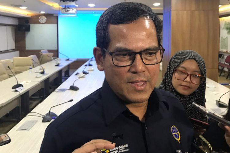 Dirjen Perkeretaapian Kementerian Perhubungan, Zulfikri saat diwawancarai di Jakarta, Senin (6/8/2018).