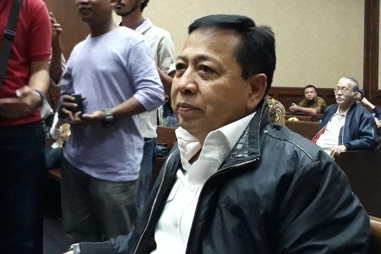 Mantan Ketua DPR, Setya Novanto, di Pengadilan Tipikor Jakarta, Jumat (14/9/2018).