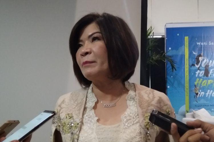 Executive Vice President Center of DigitalBCA Wani Sabu usai peluncuran buku HaloBCA di Jakarta, Jumat (13/7/2018).