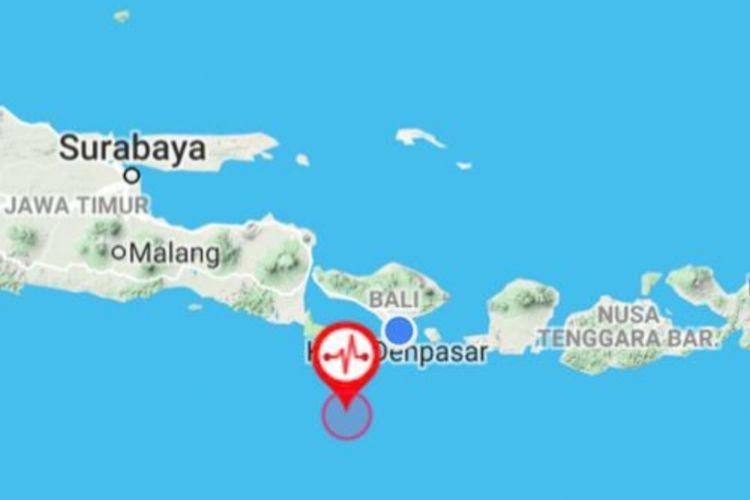 Gempa terjadi di Denpasar Bali dan sekitaranya, Kamis (23/8).