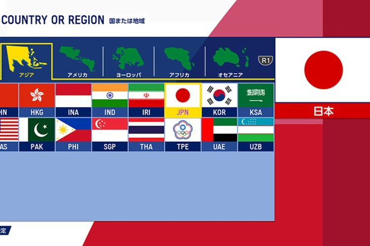 Pilihan hingga 80 negara atau regional yang disediakan gaming software ini