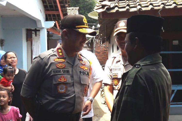 Kepala Polda Jateng Irjen Pol Condro Kirono, disela-sela pemantauan pencoblosan Pemilu 2019 di Kabupaten Temanggung, Rabu (17/4/2019).