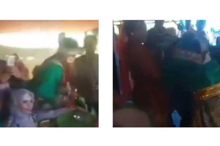 Sebuah video seorang pengantin pria pingsan setelah memeluk mantan yang menyanyi di hari pernikahannya viral di media sosial.