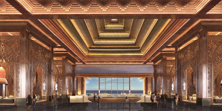 Lobby hotel The Apurva Kempinski Bali, hotel berbintang 5 di Sawangan, Nusa Dua, Bali yang akan hadir pada kuartal pertama tahun 2019.