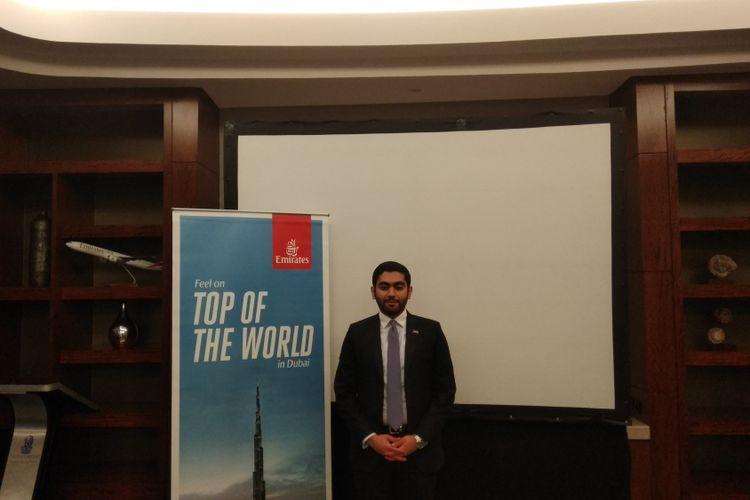 Country Manager of Emirates Airlines for Indonesia, Rashid Al Ardha dalam acara Media Roundtable session di Jakarta, Rabu (6/12/2017). Rashid menggantikan Satish Sethi untuk jabatan Country Manager of Emirates Airlines for Indonesia.
