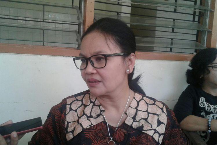 Ketua Pemenangan Pilkada DPD PDI-P Jateng, Agustina Wilujeng di Kabupaten Sragen, Jawa Tengah, Selasa (6/2/2018).