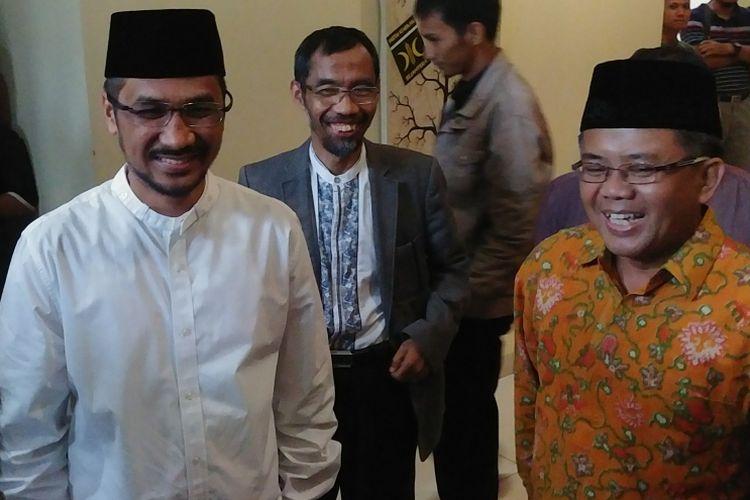 Mantan Ketua KPK Abraham Samad dan Presiden PKS Sohibul Iman di Kantor DPP PKS, Jakarta, Kamis (24/5/2018).