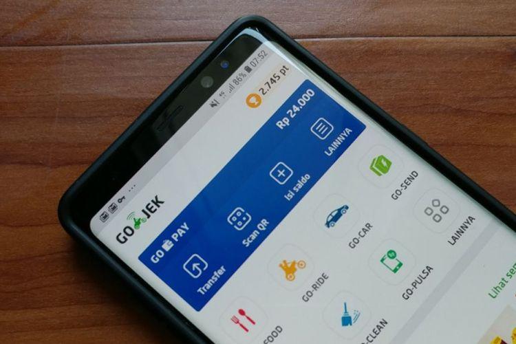 Tampilan baru aplikasi perusahaan ride-sharing Go-Jek.