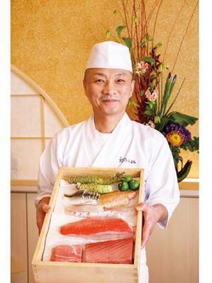 Selain bahan-bahan lokal, produk dari daerah lain seperti udang harimau Jepang dari Kyushu juga digunakan.