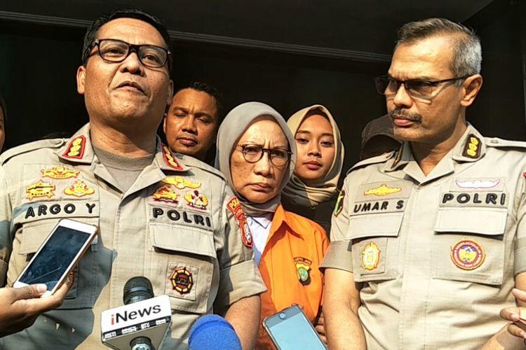Ratna Sarumpaet usai menjalani pemeriksaan kesehatan di Biddokkes Polda Metro Jaya, Rabu (10/10/2018).