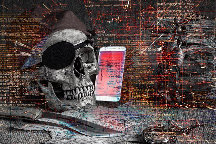 Ilustrasi adware yang mengancam keamanan ponsel