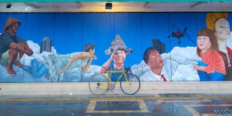 Mural di Jalan Gatot Subroto, Solo, karya anggota Komunitas Surakarya