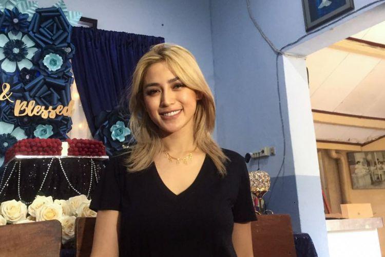 Artis peran Jessica Iskandar saat ditemui di kawasan Menteng, Jakarta Pusat, Sabtu (11/8/2018).