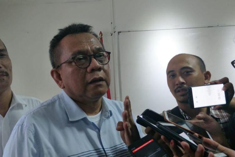 Ketua DPD Partai Gerindra DKI Jakarta Mohamad Taufik di kantor DPD Gerindra DKI, Jalan Letjend Suprapto, Kemayoran, Jakarta Pusat, Senin (5/11/2018).
