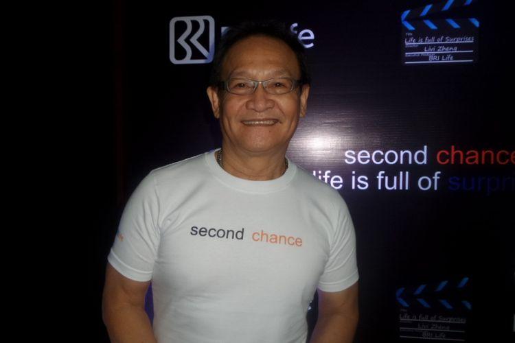 Avent Christie dalam konferensi pers dua film pendek arahan sutradara Livi Zheng di Nam Hotel, Kemayoran, Jakarta Pusat, Rabu (13/9/2017).