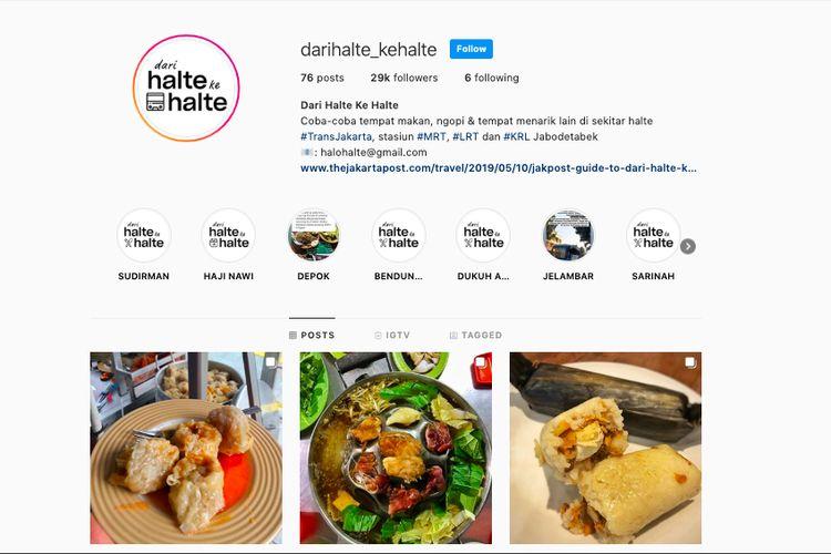 Akun Instagram @darihalte_kehalte