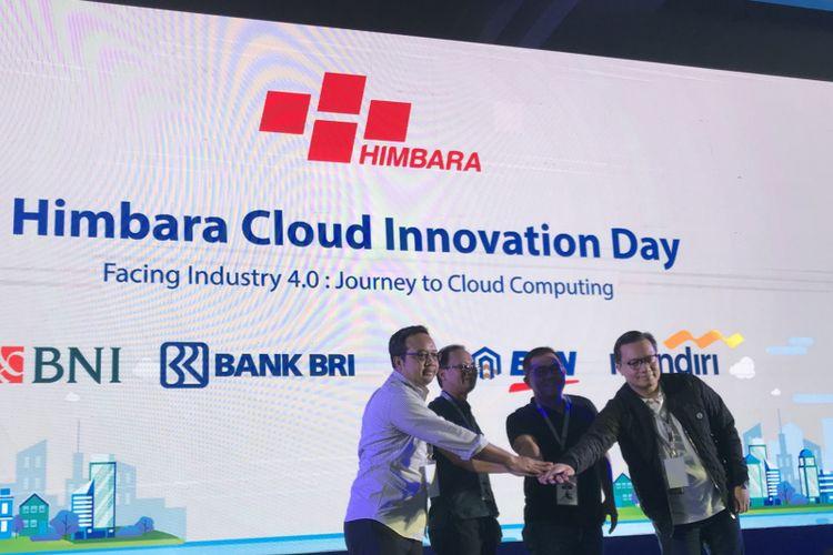 Peluncuran pengembangan Himbara Cloud di Menara Mandiri, Jakarta Pusat, Kamis (20/12/2018)
