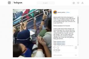 Penumpang Wanita Saling Dorong dan Bertengkar hingga Terluka di KRL