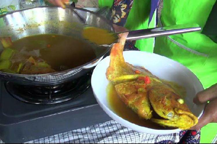 Lempah Kuning masakan khas Bangka Kepulauan Bangka Belitung.