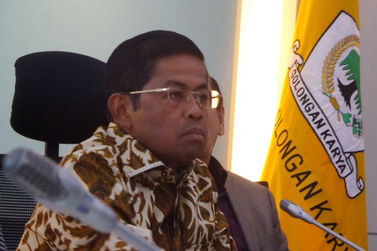 Pelaksana Tugas Ketua Umum DPP Partai Golkar Idrus Marham di Kompleks Parlemen, Senayan, Jakarta, Selasa (5/12/2017).