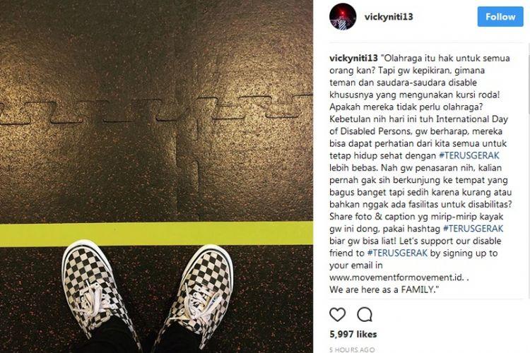 Instagram Vicky Nitinegoro tentang Hari Disabilitas Internasional