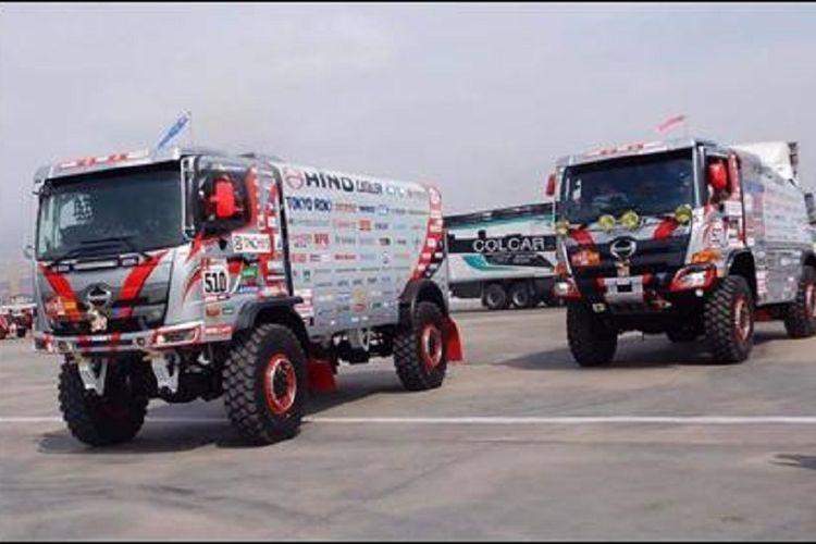 Truk yang digunakan tim Hino Team Sugawara di ajang Reli Dakar 2019 kategori truk.