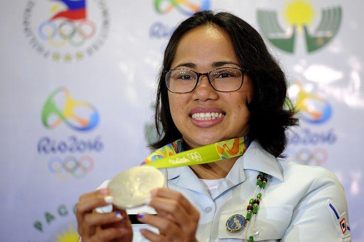 Atlet angkat besi Filipina, Hidilyn Diaz.