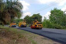 2019, Jokowi akan Bangun 65 Km Jalan Berlapis Aspal Karet