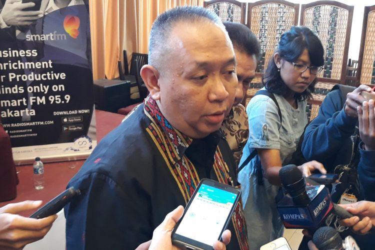Anggota Kompolnas Andrea Pulungan di Menteng, Jakarta Pusat, Sabtu (24/2/2018).