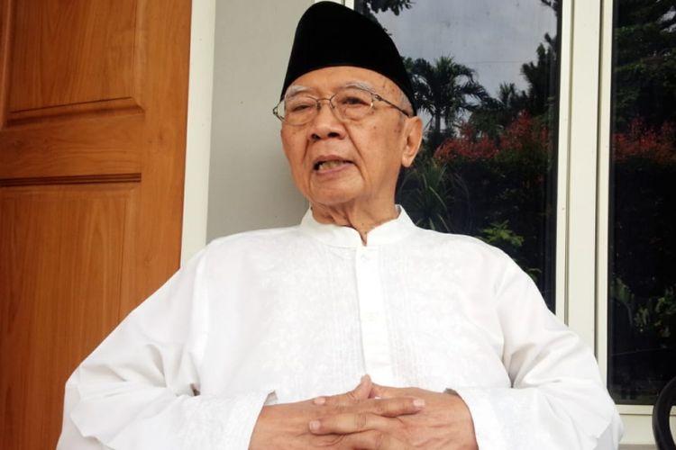 Pengasuh Pesantren Tebuireng Jombang Jawa Timur, KH. Salahuddin Wahid, saat ditemui di Pesantren Tebuireng Jombang, Senin (4/3/2019).