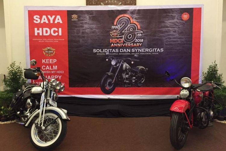 Harley-Davidson Club Indonesia (HDCI) merayakan ulang tahun ke-28 di Tangerang Selatan, Sabtu (26/5/2018).
