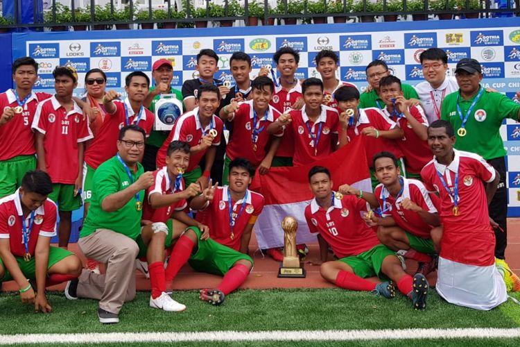 tim pelajar u 16 indonesia raih juara di gothia cup china 2018