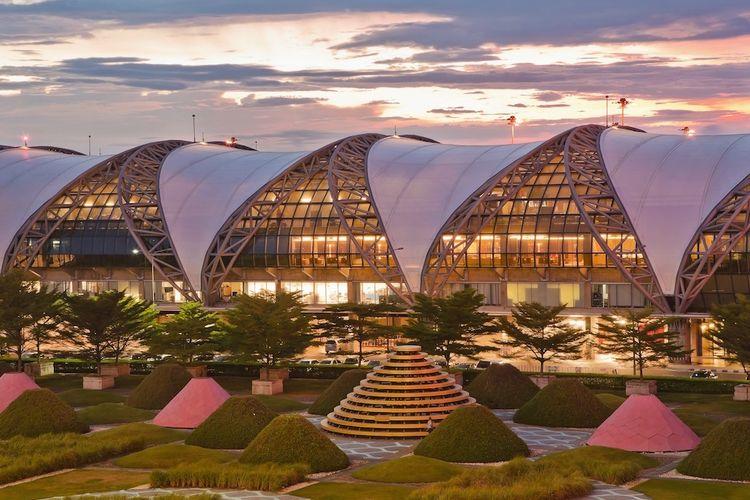 Bandara Suvarnabhumi di Bangkok, Thailand.