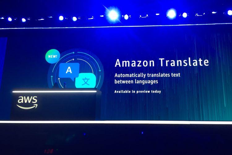Pengenalan Amazon Translate di AWS re: Invention 2017 di Las Vegas, Amerika Serikat, Rabu (29/11/2017) waktu setempat.