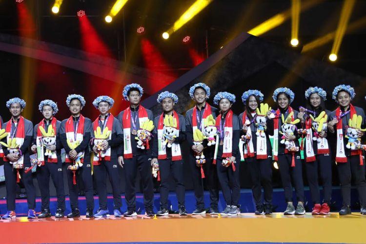 Beberapa pemain dari tim bulu tangkis Indonesia pada Piala Sudirman 2019.