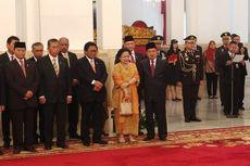 Megawati Hadiri Pelantikan Menteri Baru Hasil Reshuffle