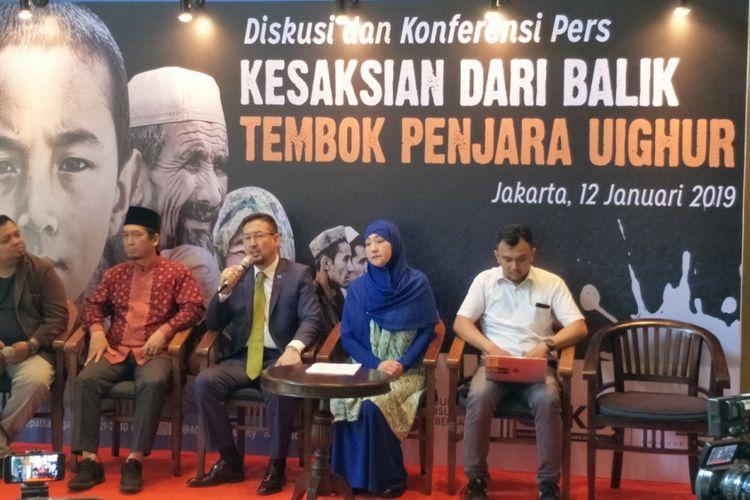 Diskusi bertajuk Kesaksian dari Balik Penjara Uighur, di kawasan Menteng Jakarta Pusat, Sabtu (12/1/2019).