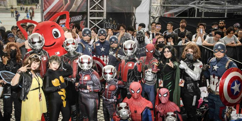 Gelaran karpet merah film Ant-Man and the Wasp digelar di National Theater and Concert Hall, Taipei, Taiwan, Rabu (13/6/2018). Dua bintang utama, Paul Rudd (Ant-Man) dan Evangelina Lilly (Wasp), hadir menyapa penggemar dalam gelaran tersebut.