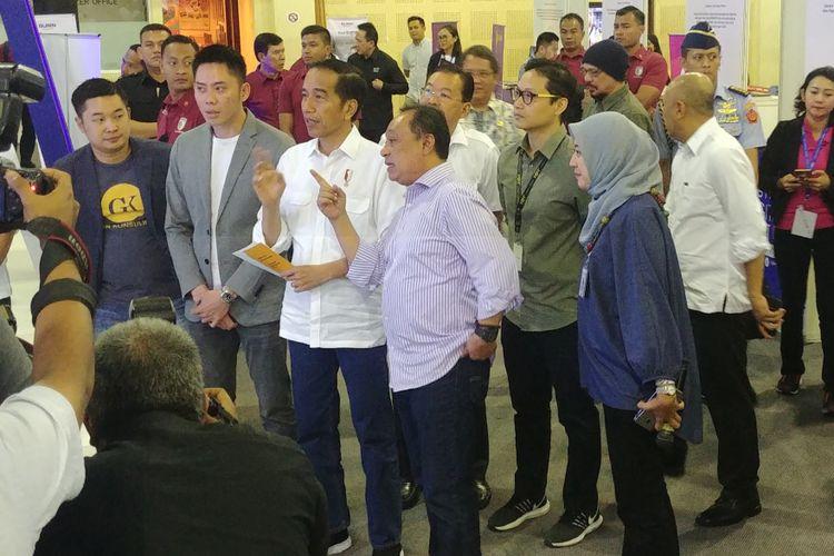 Presiden Joko Widodo menghadiri peresmian pembukaan BTN Digital Startup 2018 di Balai Kartini, Jakarta, Jumat (7/12/2018) pagi.