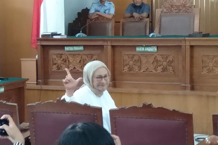 Ratna Sarumpaet saat jalani sidang di Pengadilan Negeri Jakarta Selatan, Kamis (11/7/2019).