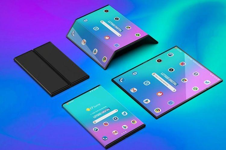 Render ponsel layar lipat Xiaomi